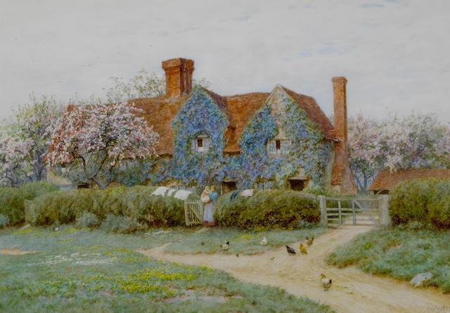 Helen Allingham, RWS (British, 1848-1926) Buckinghamshire house at Penstreet