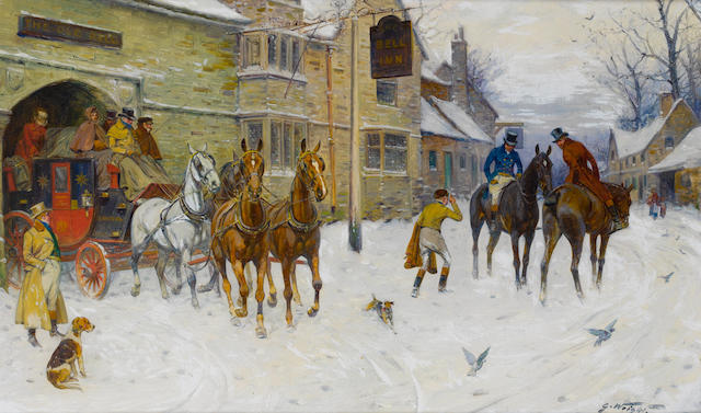George Wright (British, 1860-1942) The Bristol Coach