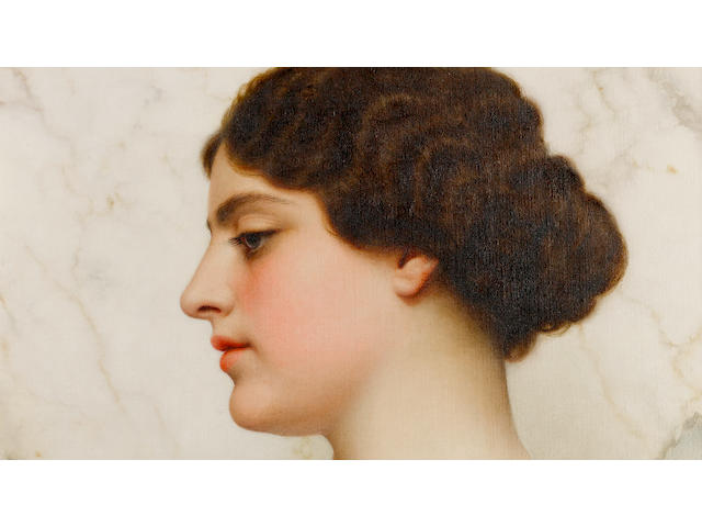 John William Godward, RBA (British, 1861-1922) A Roman beauty