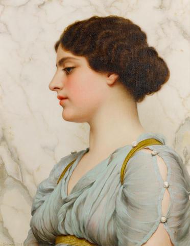 John William Godward, RBA (British, 1861-1922) A Roman beauty