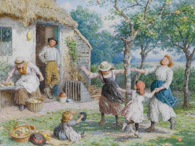 Myles Birket Foster, RWS (British 1825-1899) Ring a Ring a Roses