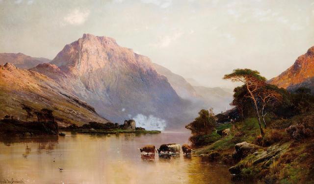 Alfred de Bréanski, RBA (British, 1852-1928) Inverlochy and Ben Nevis