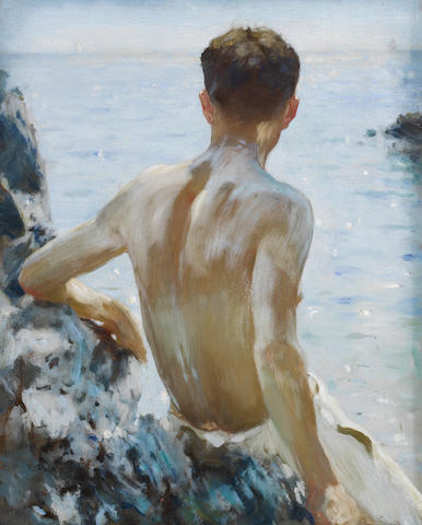 Henry Scott Tuke, RA, RWS (British, 1858-1929) Beach Study