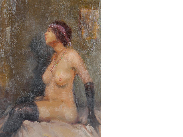 Ken Moroney (British, born 1949) Seated nude