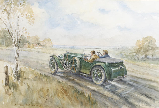 Edward Wilkes (1914-), 'A Frazer Nash in a Hurry',