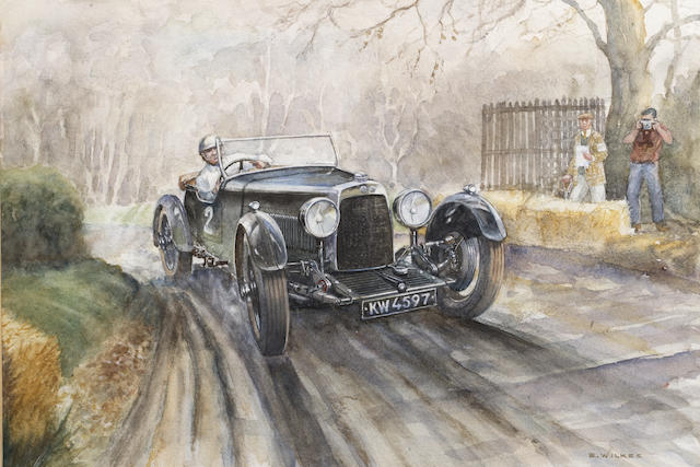 Edward Wilkes (1914-), '1928 Aston Martin at Wiscombe Hill Climb',