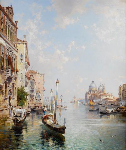 Franz Richard Unterberger (Austrian, 1838-1902) Grande canal, Venise