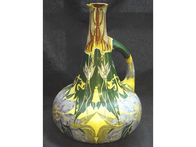 A Dutch Haga Art Nouveau pottery ewer