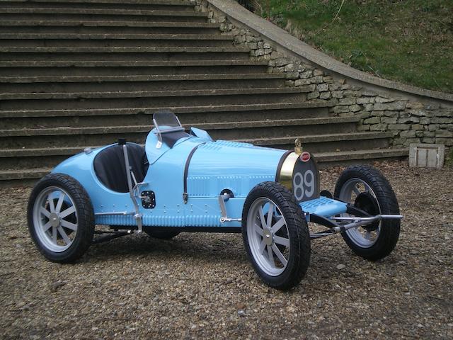 A half scale model of a 1926 Bugatti type 35B,