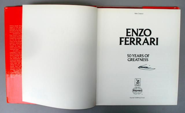Piero Casucci: Enzo Ferrari 50 Years Of Greatness, signed by Enzo Ferrari,