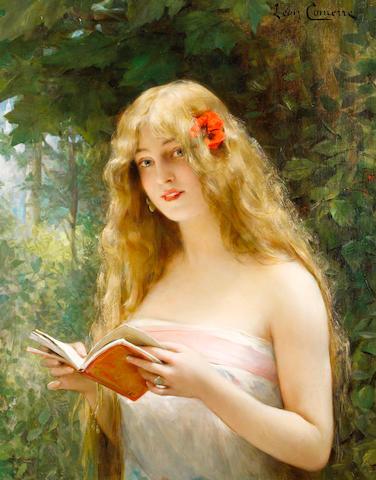 Léon François Comerre (French 1850-1916) La Belle Liseuse