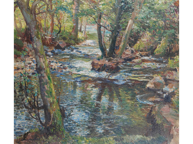 Samuel John Lamorna Birch, R.A., R.W.S., R.W.A. (British, 1869-1955), The dimpled pool in June
