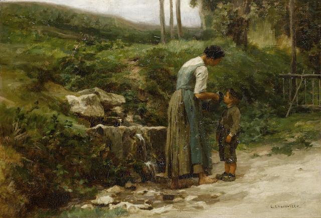 Léon Augustin Lhermitte (French, 1844-1925) La Petite Fontaine