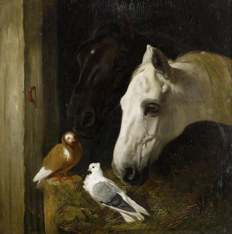 John Frederick Herring, Snr. (British, 1795-1865) Stable companions