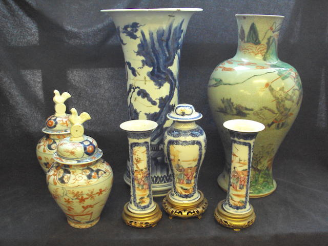 A mixed collection of Oriental ceramics