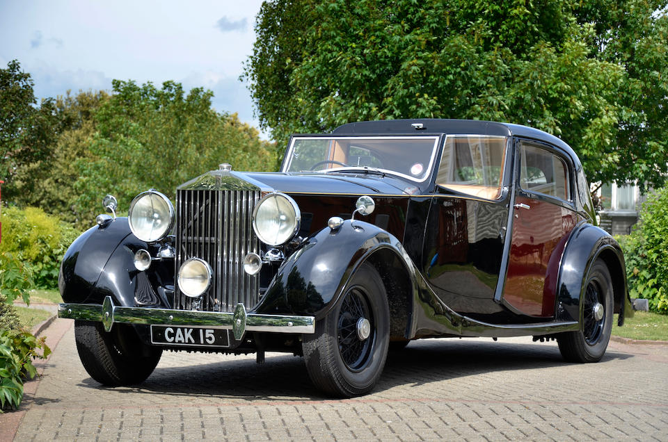 The ex-Earls Court Motor Show,1937 Rolls-Royce Phantom III Sedanca de Ville  Chassis no. 3CP192 Engine no. A88C