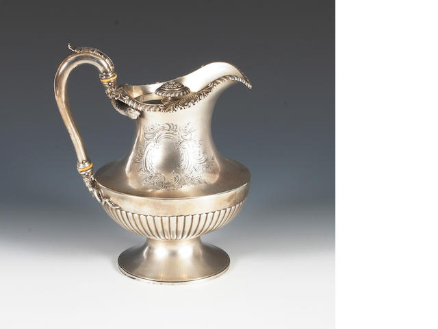 A George IV  silver coffee/hot water pot By Benjamin Smith II, London, 1825,