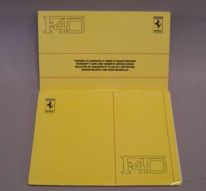 Two Ferrari F40 publications