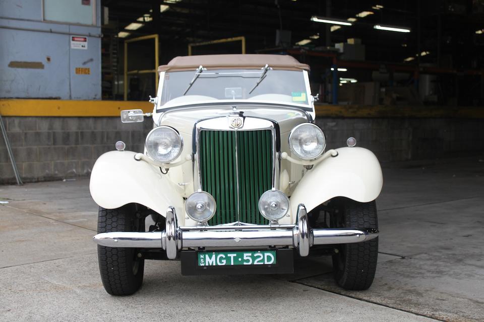 1952 MG TD  Chassis no. TD/10469 Engine no. XPAG/TD2/10815