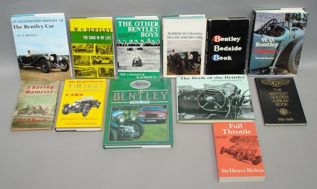 Books relating to W O Bentley cars