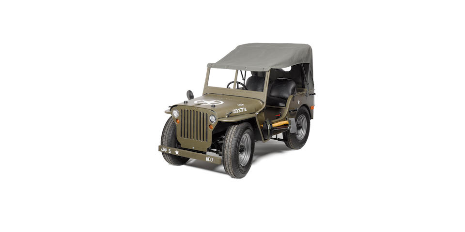 A half scale model of a 1940's Willys Jeep,