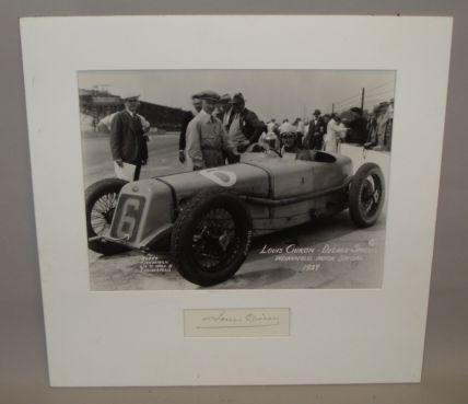 A photograph of Louis Chiron - Delage Special at Indianapolis in 1929,