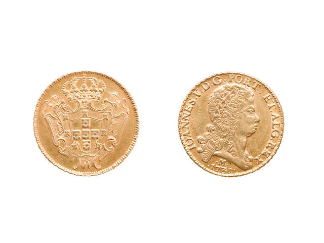 Brazil, Joao VI, 1706-50, 12800 Reis, 1731 M, Minas Gerais, 28.61g, bare head right,