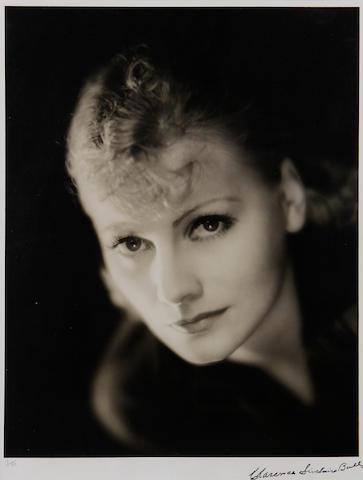 Clarence Sinclair Bull (American, 1895-1979) 'Greta Garbo' 38 x 29cm (14 15/16 x 11 7/16in).