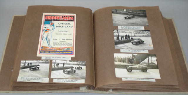 A scrapbook of pre-War racing at Brooklands and other events