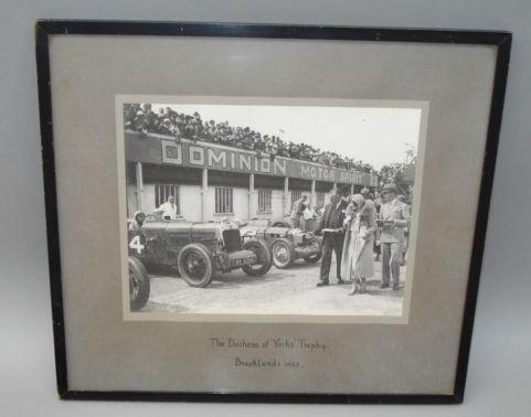 A photograph of 'The Duchess of Yorks' Trophy', Brooklands 1932,
