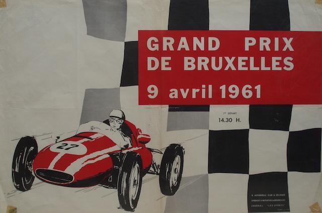 A Grand Prix de Bruxelles poster, 9 April 1961,