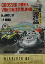 A 1962 German Grand Prix poster,