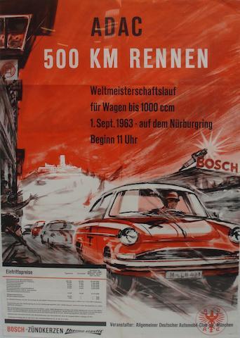 Two Nurburgring motor racing posters