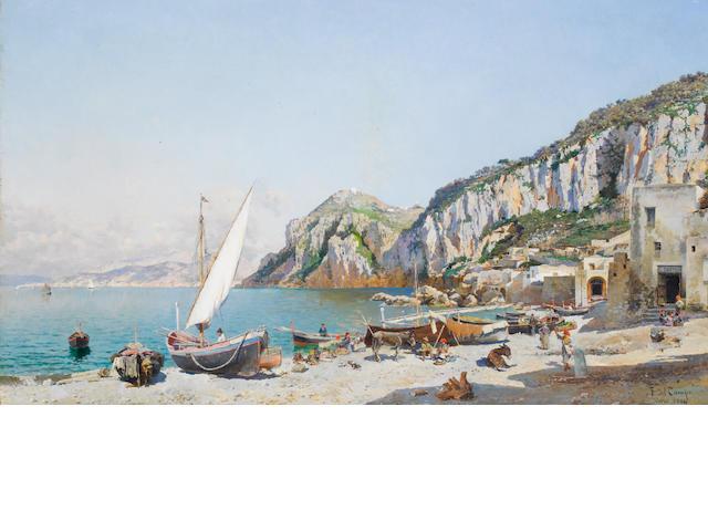 Federico del Campo (Peruvian, 1837-1927) Beach at Capri