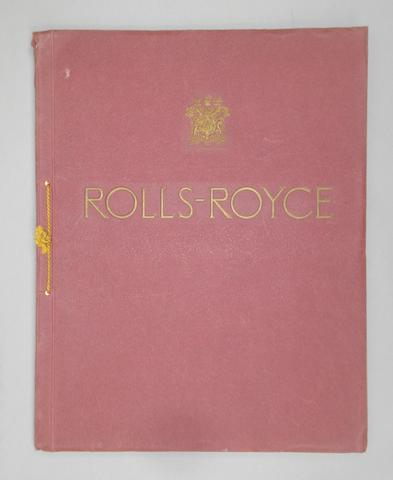 A Rolls-Royce 40/50 hp Six Cylinder Phantom II sales brochure, c1931,