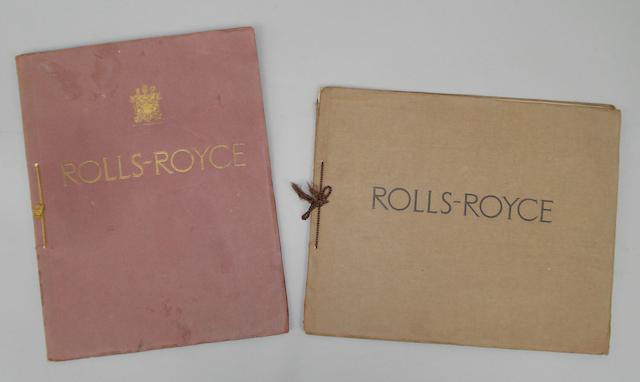 Two sales brochures for Rolls-Royce 40/50 hp Six Cylinder cars,