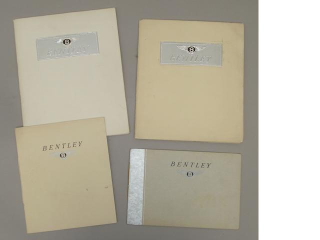 Four sales brochures for Bentley Mark VI 'Silent Sports Car' models,