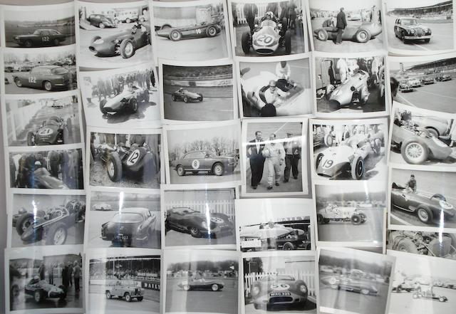 A quantity of 1950s and 1960s motorsport photographs,
