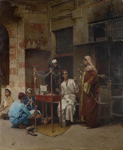 Raphael von Ambros (Austrian, 1855-1895) The tobacco seller, Cairo