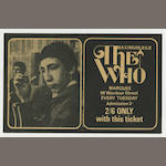 A 'Maximum R & B' Marquee ticket for The Who, 1964/1965,