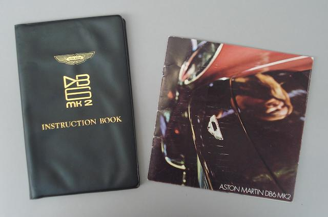 An Aston Martin DB6 Mk2 instruction book and sales brochure,