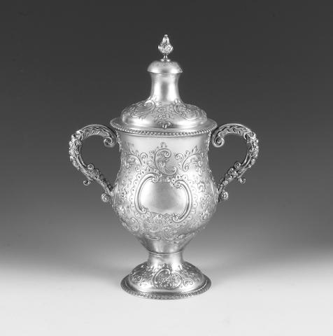 A Victorian silver twin handled trophy cup  By James Wakely & Frank Clarke Wheeler,  London, 1896,  (2)