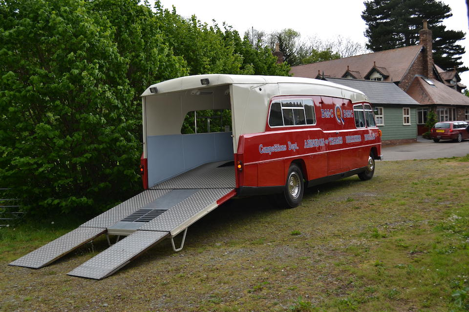 The ex-BMC Competitions Department,1959 BMC 5-Ton Race Transporter  Chassis no. 5K1774-147447