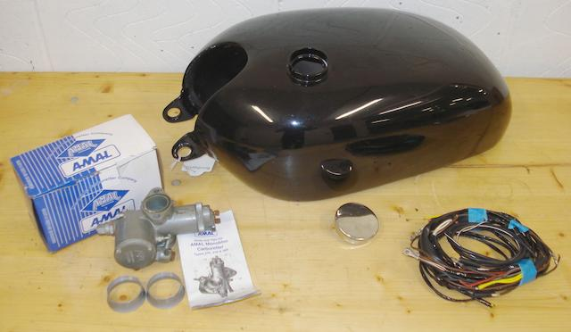 A 1955 Vincent Twin Series D petrol tank,