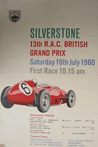 A British Grand Prix poster