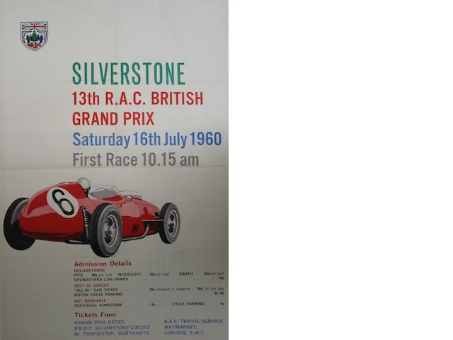 A good original British Grand Prix poster