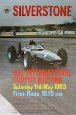 A Silverstone British Grand Prix poster, 1963,