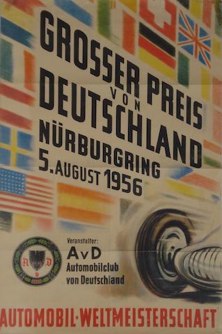 A Grosser Preis von Deutschland poster, 1956,