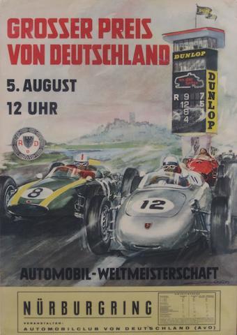 Five Grosser Preis von Deutschland posters