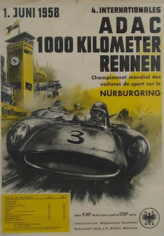 ADAC Nurburgring 1000KM Rennen posters,